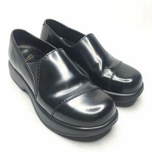 Dansko Black Slip On Stitched Clog Lightweight